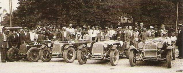 La scuderia Ferrari lors de la course Trieste-Opicina en 1930