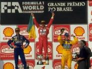 Ayrton senna, Damon Hill et Michael Schumacher