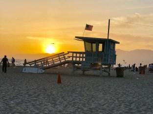 Pôr do sol em Santa Mônica