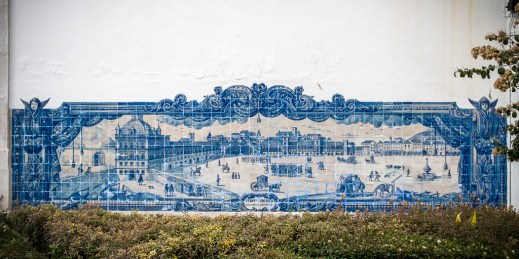 António Quaresma | Terreiro do Paço nos finais do século XVIII | Lisboa | Miradouro de Santa Luzia | 1930-1940 [Foto: © CML | DPC | José Vicente 2015]