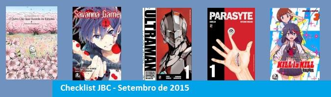 Checklist Setembro de 2015 – Editora JBC