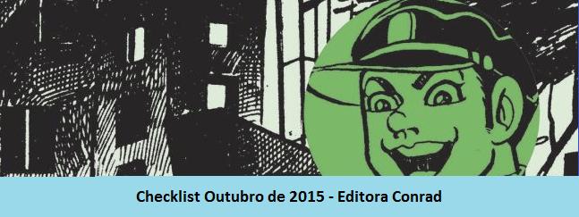 Checklist Outubro de 2015 – Editora Conrad
