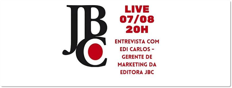 Confira as principais informações da live da editora JBC com a loja Amora Book Store