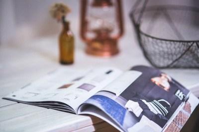 雑誌を読んで、編集や構成の参考に