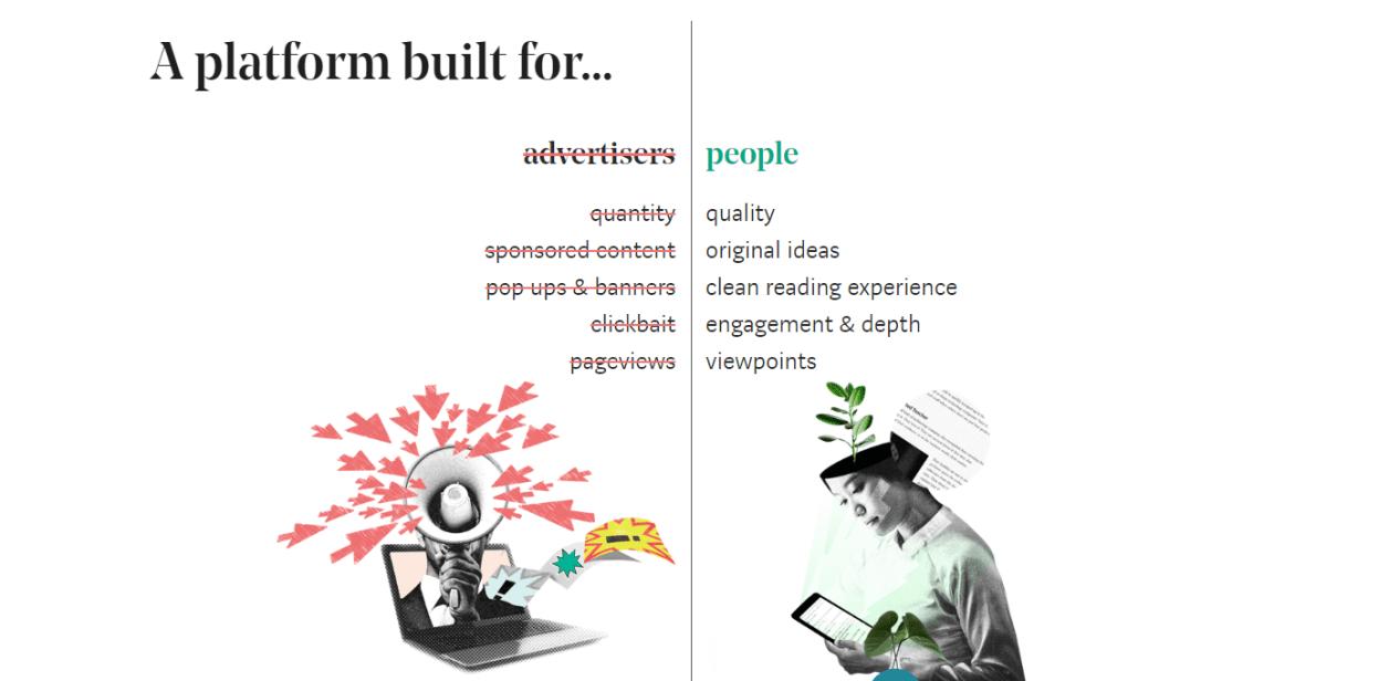 Mediumは広告なしでコンテンツが読める