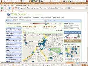 The Walkscore.com Web page