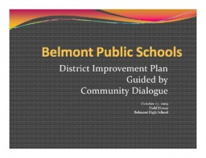 Take part in a Community Dialog on the future of the Public Schools
