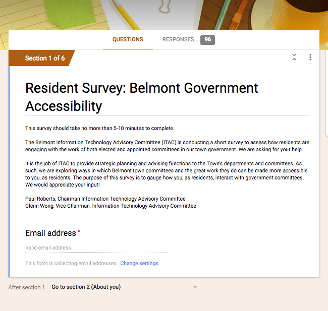 A Poll: How Technology Could Help Town Government Serve Us Better