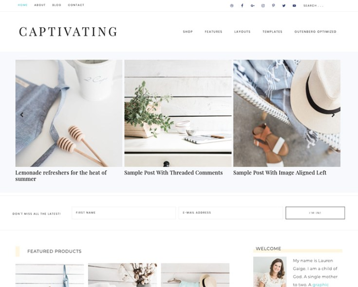 Restored 316 Designs Feminine Wordpress Themes