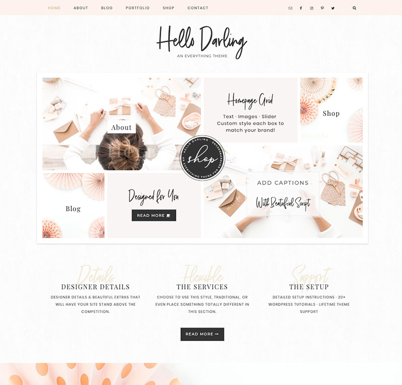 hello darling wordpress theme