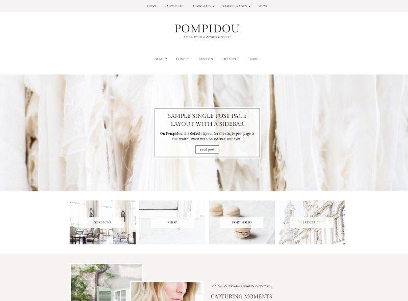 pompidou wordpress genesis theme
