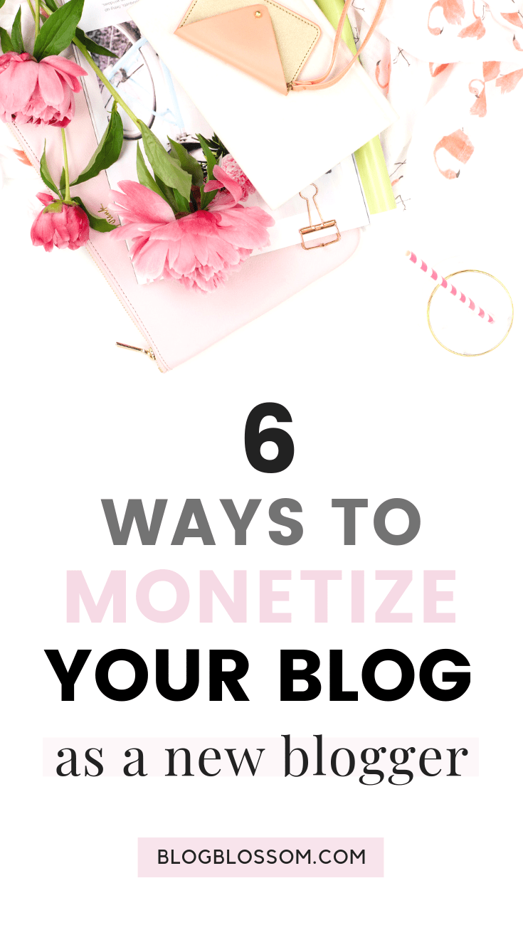 Want to make passive money? In this post, I outline 6 revenue streams to make money blogging online so you can diversify your income and successfully build your online business. | ad revenue | monetize your blog | affiliate marketing | passive income streams | entrepreneur | solopreneur | make money online | digital nomad | digital products | freelance writing | social media | blogging tips | start a blog | side hustles
