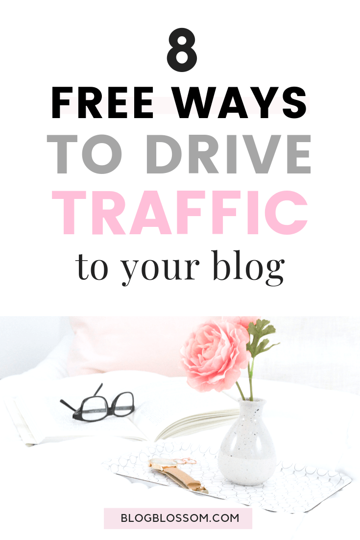 Getting traffic to a new blog can be confusing as a beginner but by using the best strategy and using the right channels, you can skyrocket your blog traffic at an explosive rate. Here are 8 free ways to drive traffic to your blog you'll want to check out so you can start making money online today. | make money online | work from home | social media marketing | blogging resources | blogging tools #bloggingtips #startablog #blogging #makemoneyonline #blogtraffic #blogtips #socialmediamarketing