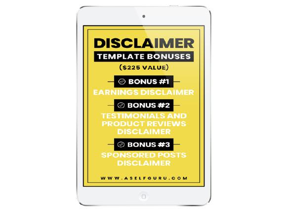 disclaimer bonus
