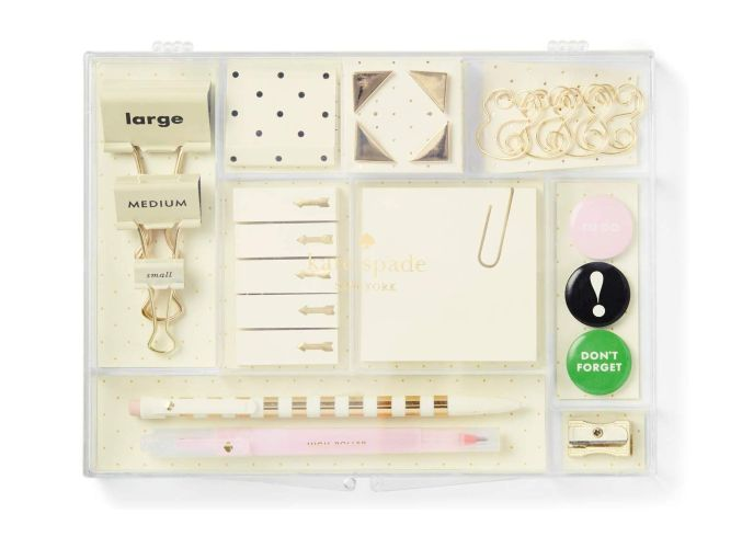 kate spade office supplies tackle box