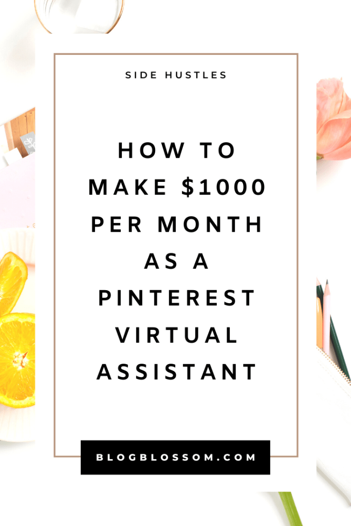 Do you love Pinterest and would love to start a side hustle doing something that you love? Learn how to become a freelance Pinterest virtual assistant in this post. | pinterest va | va | earn extra money | start a business | solopreneur | make extra cash #sidehustle #entrepreneur #girlboss #businesstips #beyourownboss #workfromhome #workfromhomejobs #makemoneyonline