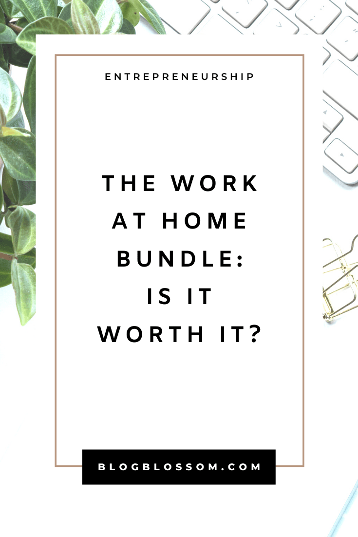 The Work At Home Bundle is having their yearly flash sale! The bundle is totally curated to help you work from home like a pro so you can get more done, grow your online income, work smarter, and achieve a better work-life balance. | side hustles | productivity tips | time management | make money online | working from home | entrepreneur | business tips | remote jobs | remote work | digital nomad | personal development | self-improvement | job opportunities | branding | success tips | mindset