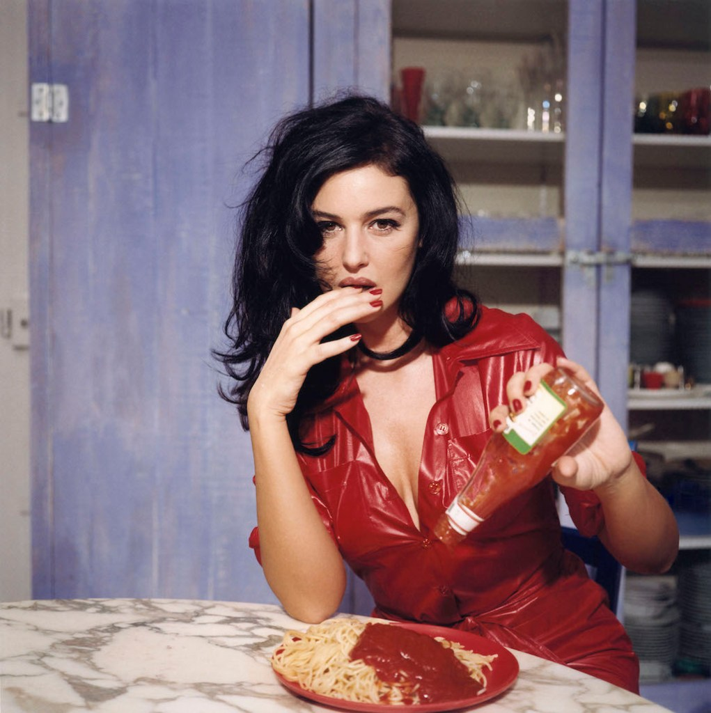 Breakfast with Monica Bellucci, November 1995, Paris © Bettina Rheims