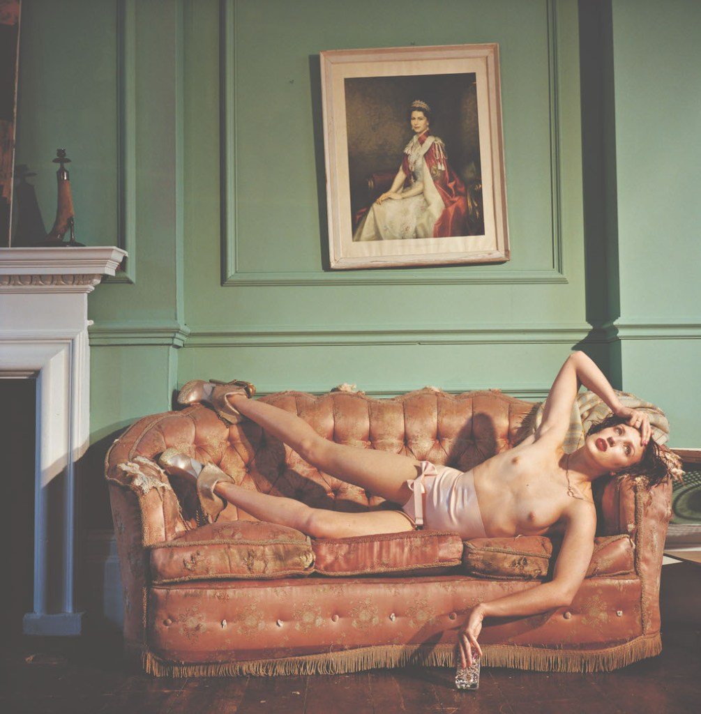 Georgie Bee wearing her own amazing shoes, June 2013, London © Bettina Rheims