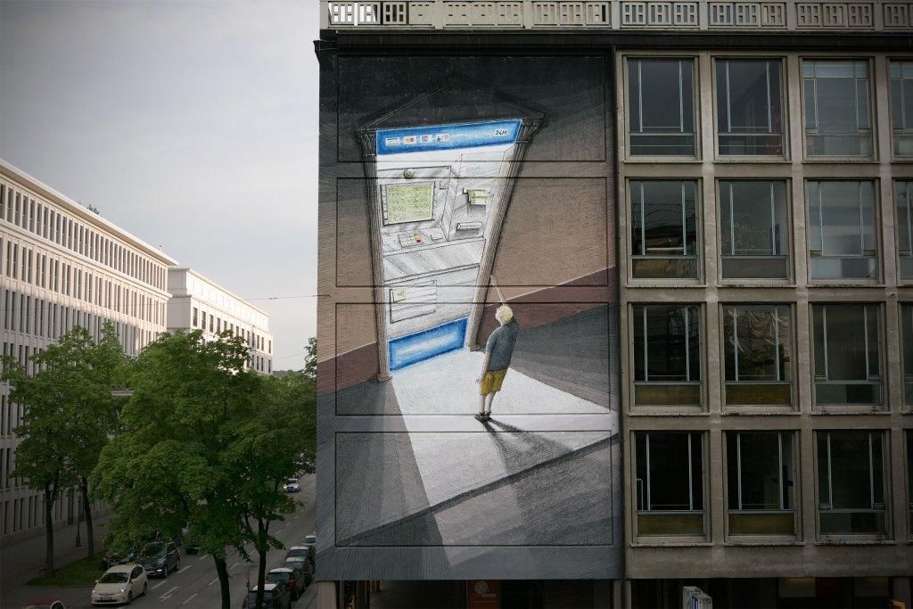Positive-Propaganda / BLU / Streetart in München/Germany (c) Hanna Sturm / Positive-Propaganda