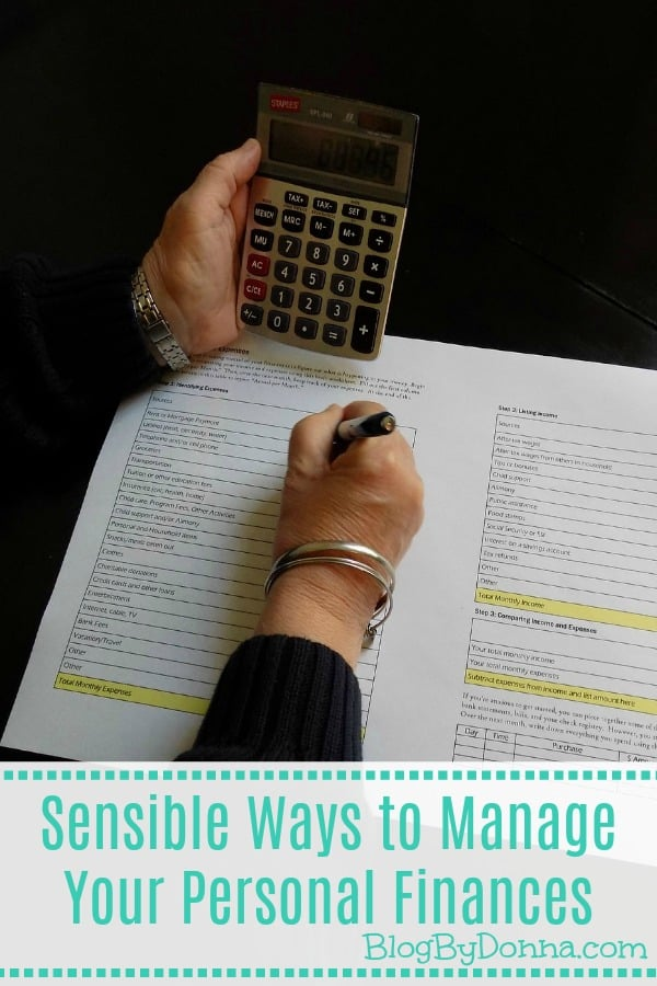 Sensible Ways To Manage Your Personal Finances Blog By Donnablog By Donna