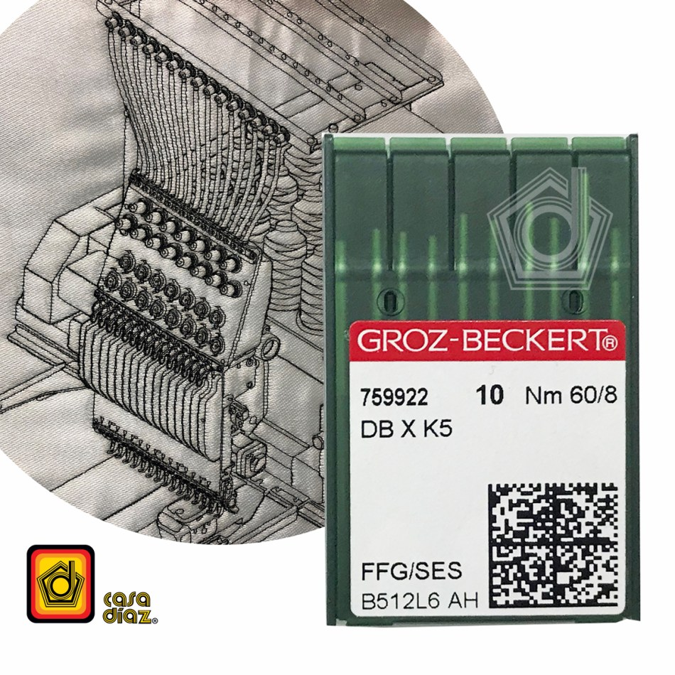 Aguja DBXK5 para máquinas bordadoras industriales