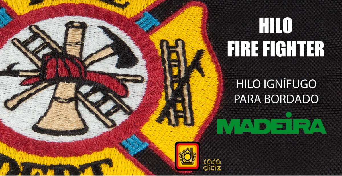 Hilo Fire Fighter Madeira Bordado