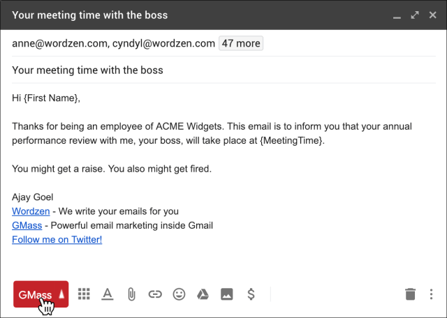 How to send a mass email to your employees