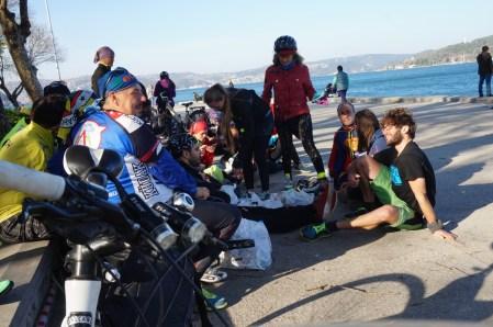 Gruppenradltour am Bosporus