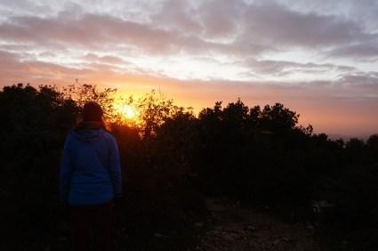 Sonnenuntergang von Mt. Meron