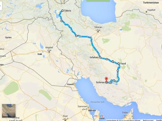 2.000 Kilmoter Radroute durch Iran