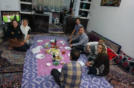 Eine tolle Familie, ein leckeres Essen und viele Selfies