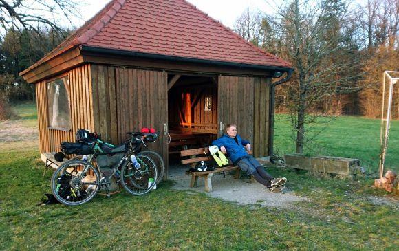 luxuriöse Wetterschutzhütte bei Rothenburg
