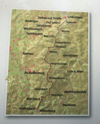 Routenverlauf Eselsweg im Spessart