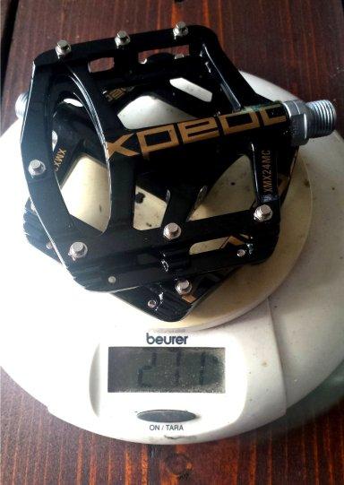 Xpedo Spry Pedal Test Gewicht