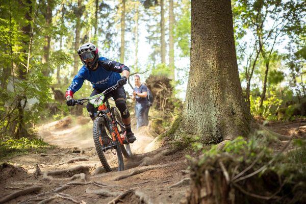 Sogar bei der Enduro One 2018 in Winterberg mit Magura MT Trail