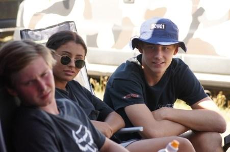 Max besuchte seine Teamkollegen und unterstütze sie von Seitenlinie aus.