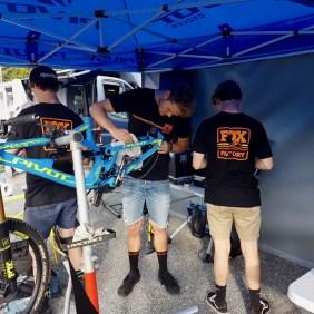 Bei den Dirtmasters in Winterberg - das Bike wird eingestellt!