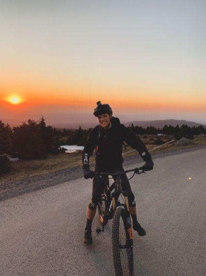 Morningride - Eric beim wunderschönen Sonnenaufgang im Harz