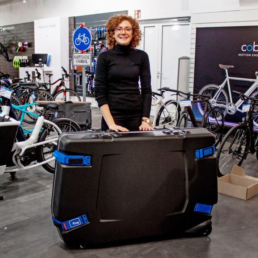 Frieda und der B&W Fahrradkoffer