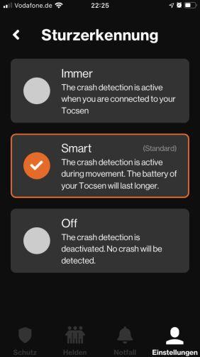 Der Alarmmodus lässt sich konfigurieren