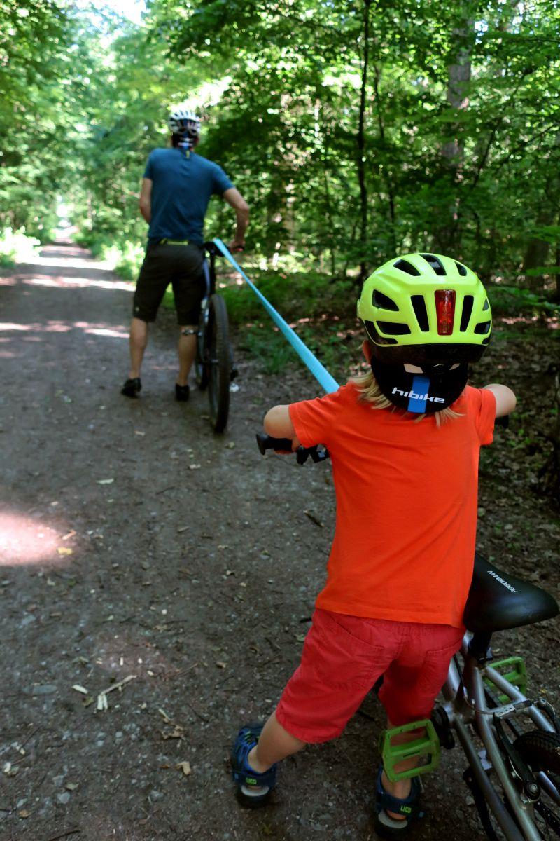 Das Shotgun Tow Rope bringt wortwörtlich Spannung beim Biken.
