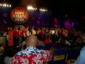 Two Connecticut delegates -- Enfield Teachers Association member Mary Lombardo and Greenwich Education Association member Rae Baczek -- were part of a chorus of NEA delegates who sang during a special Fourth of July celebration at the NEA RA in San Diego.