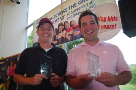 First place gross winners Jeremy Klein and Bob Borkowski of ING.