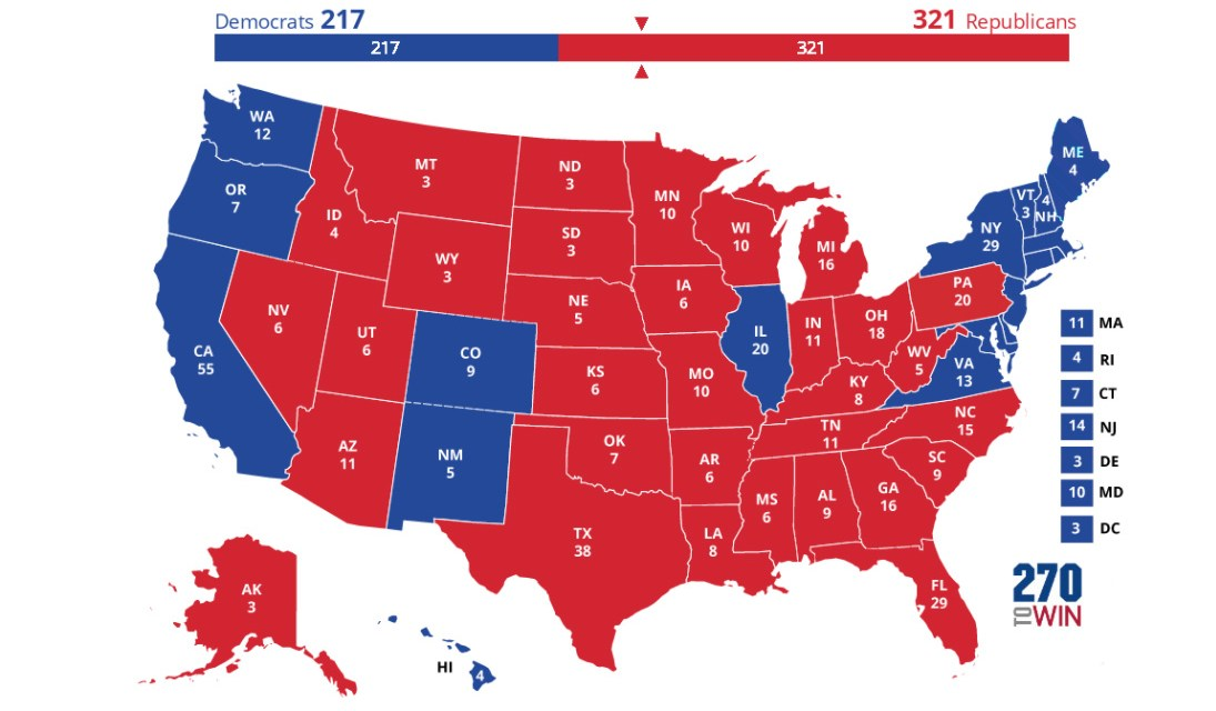 My Presidential Election Prediction Map 2020