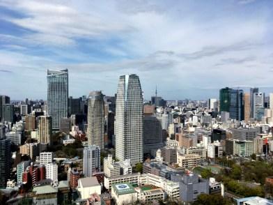 Desde arriba, al fondo se ve el Skytree