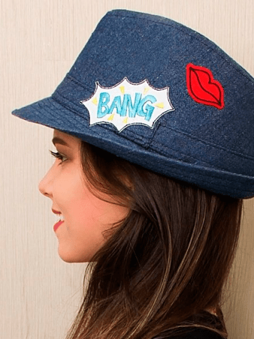 Chapéu Fedora Jeans Patches - Bang!