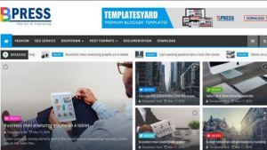 Blogger Templates 2018 Bpress Responsive Blogger Template