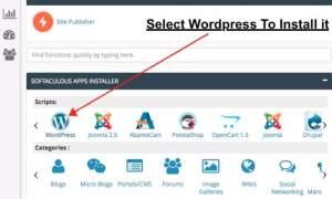install wordpress - make a blog