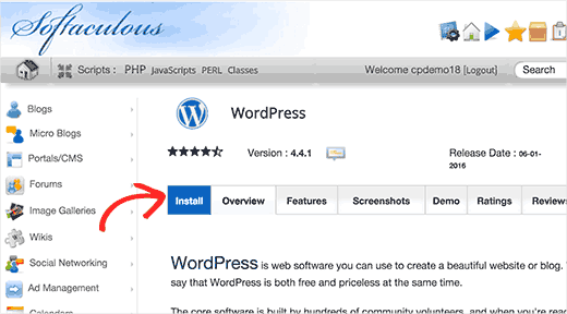 how to start a blog in india - One press wordpress install